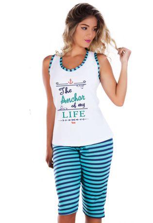 pijama-pescador-listrado-variado-Produto-G68--compra-facil-lingerie-Revenda-e-Atacado-Foto--MODELO--Frente