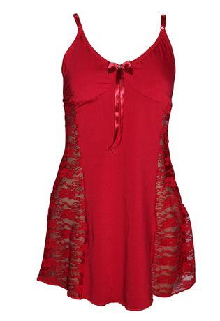 camisola-em-microfibra-e-renda-compra-facil-lingerie-revenda-e-atacado-Foto-Voando-Frente-Cor--VERMELHO