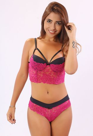 conjunto-sexy-strappy-em-renda-compra-facil-lingerie-revenda-Foto-Modelo-Frente