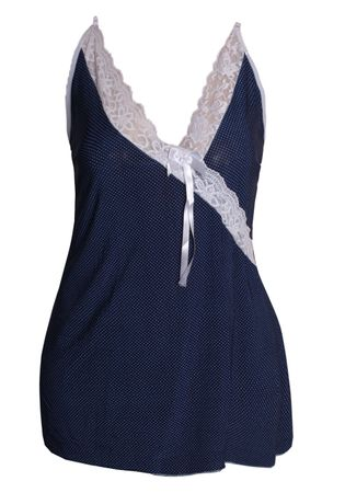 camisola-sexy-plus-size-em-liganete-estampada-e-renda-compra-facil-lingerie-Revenda-e-Atacado-Foto-modelo-AZUL-MARINHO-BRANCO