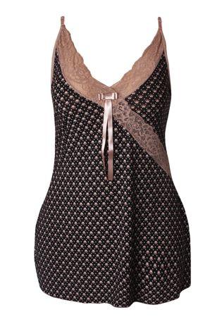 camisola-sexy-plus-size-em-liganete-estampada-e-renda-compra-facil-lingerie-Revenda-e-Atacado-Foto-modelo-PRETO-CHOCOLATE-ESCURO