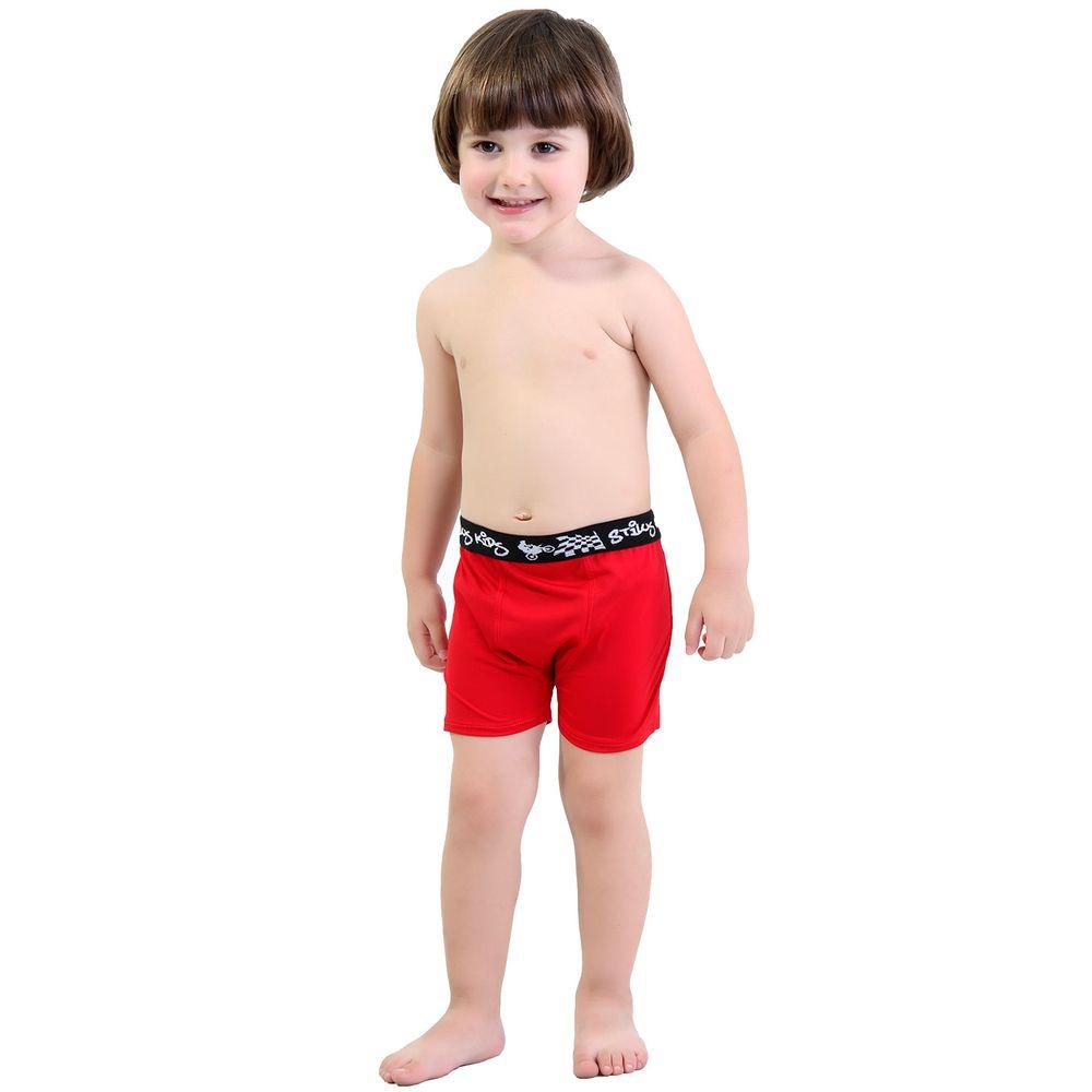 56a3a7ee6316 Cueca Boxer Infantil em Microfibra com Elástico Exposto N01 - Compra Fácil  Lingerie