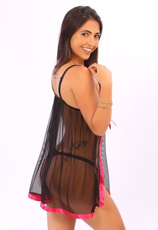 camisola-sexy-em-tule-abertura-lateral-compra-facil-lingerie-Revenda-Foto-Modelo-Costas