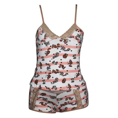 972631878 Baby Doll Camisete em Cottton Algodão K06 - Compra Fácil Lingerie