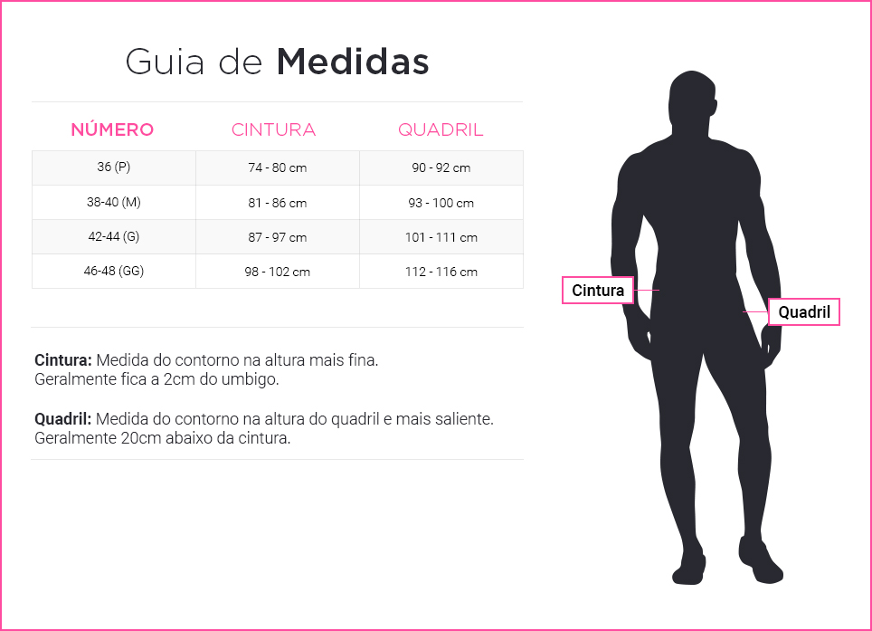 medida masculino