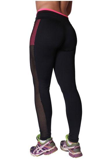 48ef6dda1 Calça Legging Fitness em Poliester com Tela L19 - Compra Fácil Lingerie