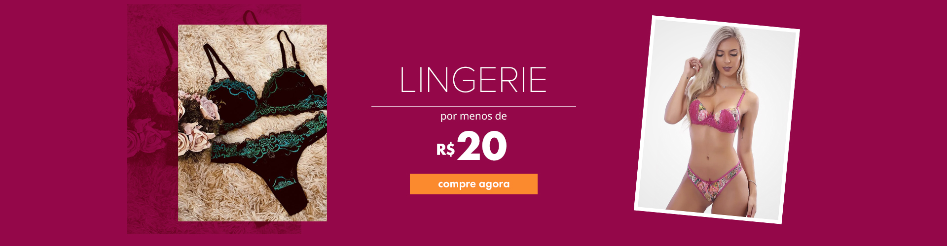 Lingerie por menos de R$20 compre agora