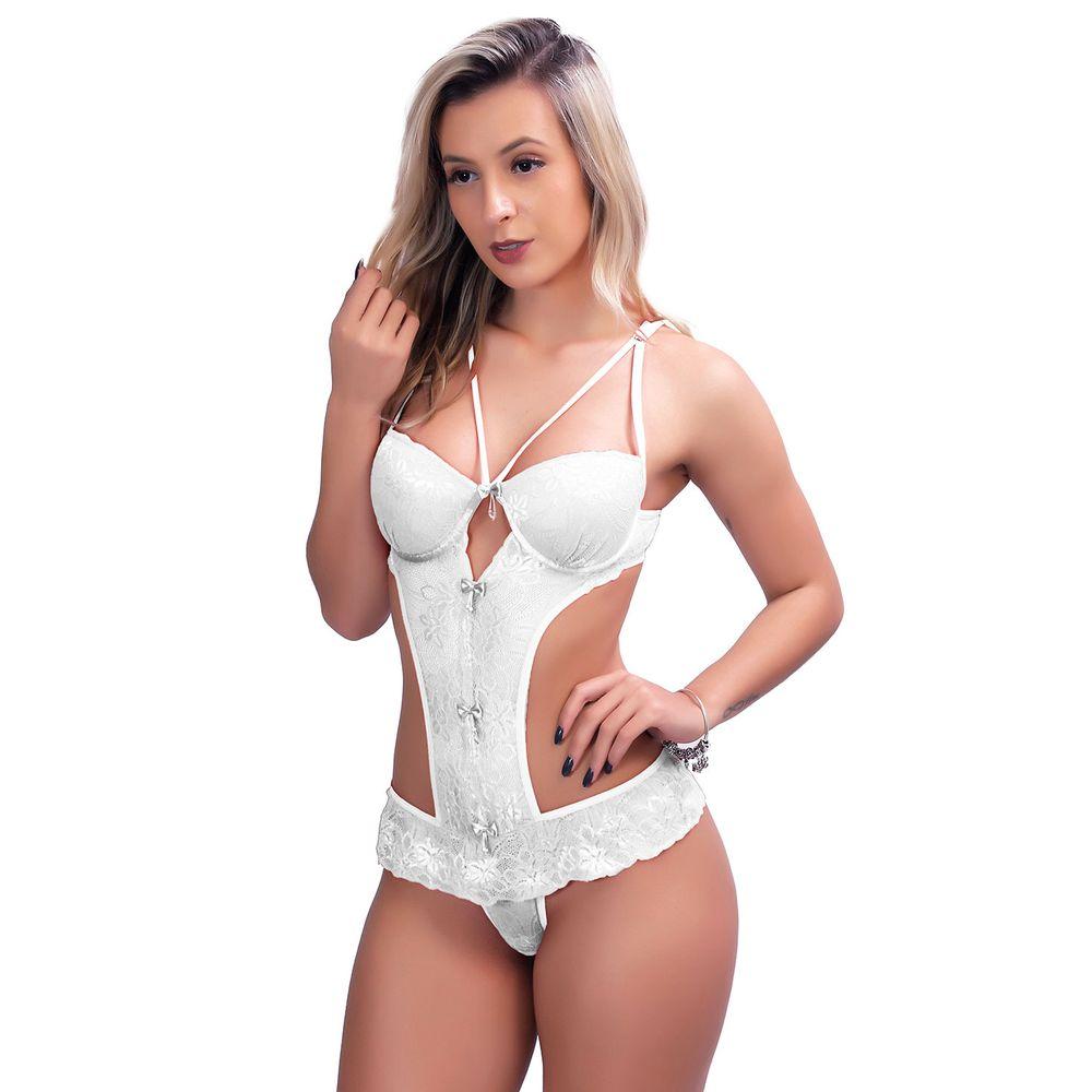 ace3194c4 Body Sexy Strappy Bra em Renda com Lacinho H13 - Compra Fácil Lingerie