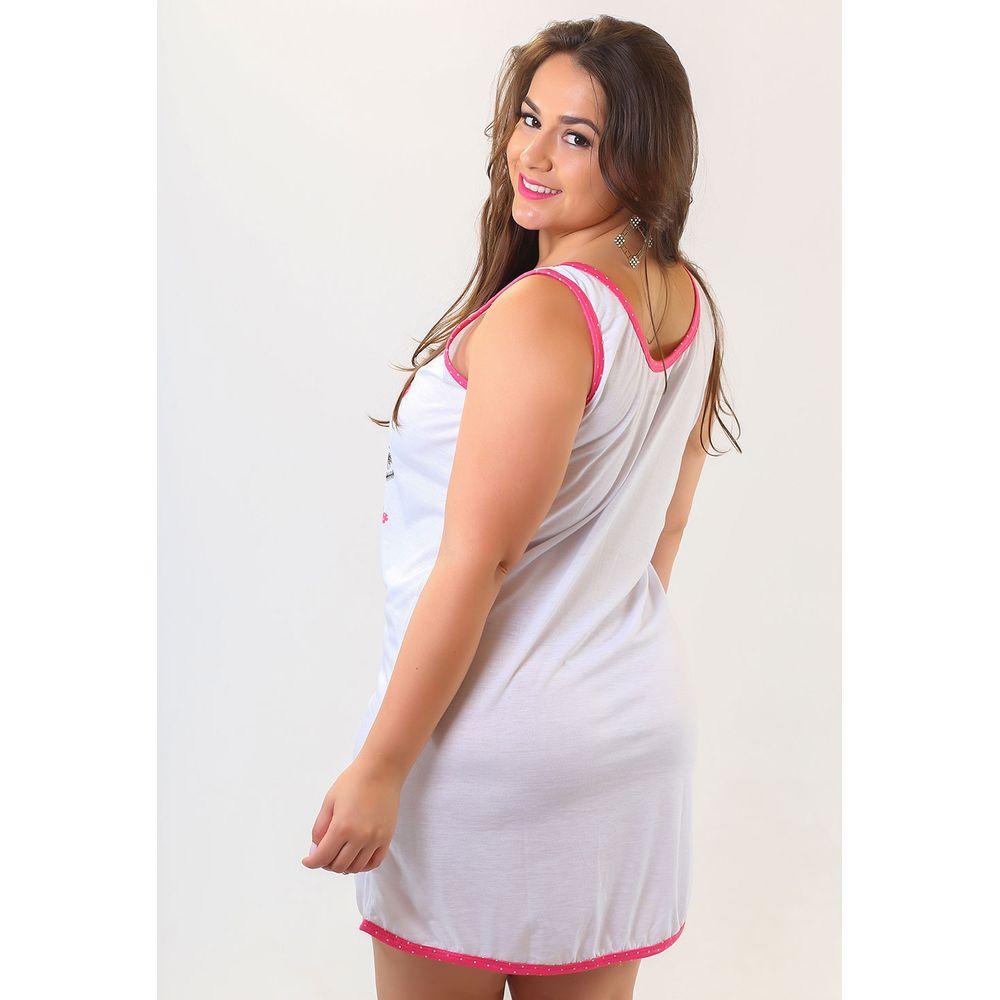 Camisola Regata em Malha com Estampa Silk G64 - Compra Fácil Lingerie 1d49f911882