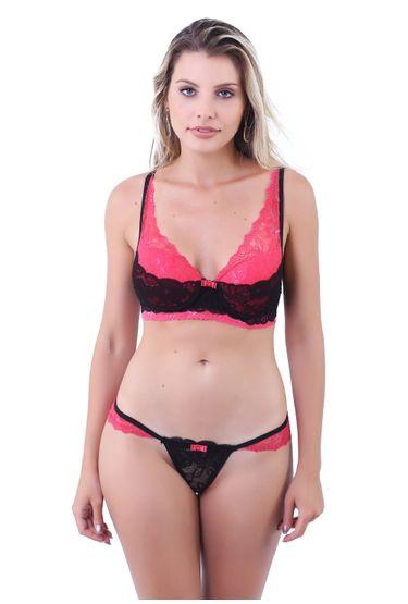 539df707d Conjunto Lingerie Sexy em Renda E Microfibra D171 - Compra Fácil ...