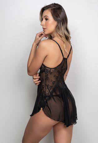 Camisola-Sexy-em-Tule-Liso-com-Detalhes-em-Renda-Bordada-J08