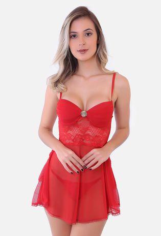 Camisola-Sexy-Luxo-em-Tule-e-Renda-J34
