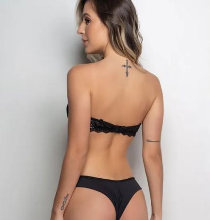 banner lingerie preta
